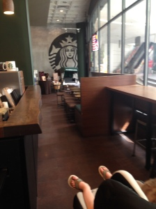 This is Starbucks at 10am this morning.